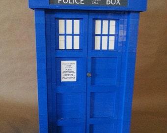 Lego Custom Dr. Who Blue Tardis Large Fridge Large Scale Replica 1614 Pieces MOC