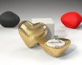 Coral Heart Ring Box - proposal ring box, engagement ring box, ring case, wedding, marriage, matrimony, bridal, nuptials, jewelry box, love