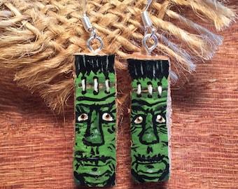 Frankenstein Cork Earrings