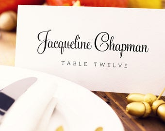 Place Card Template, Editable Instant Download, DIY Printing, Custom Personalized Seating Card, Wedding Printable