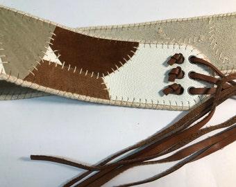 Belt suede leather vintage fringed