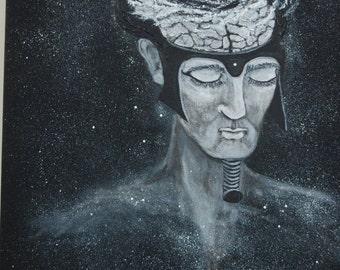 Cosmic fantasy painting ' Mercury '/Cosmic fantasy painting ' Mercury '