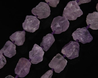 Natural Light Purple Amethyst Stone Beads, Faceted Amethyst Crystal Geode Stone Nugget Large Hole Beads, Stone Beads,Purple Gemstone