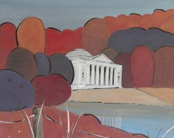 Pantheon, Stourhead. Limited Edition Giclee Print by Suzanne Whitmarsh.