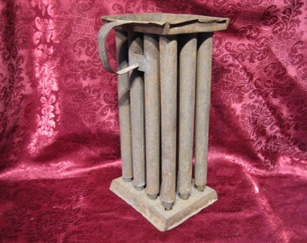 ANTIQUE CANDLE MOLD - Tin 12 Candle Taper Primitive,  c.1800's