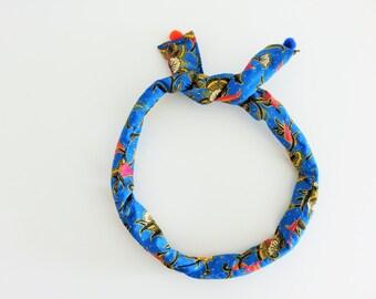 batik headband, wire headband, batik fabric, gift for her, Spring trend, top knot headband, womens headband, colorful hair accessory,