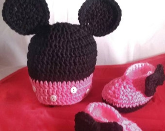 Mini Mouse Hat and shoes