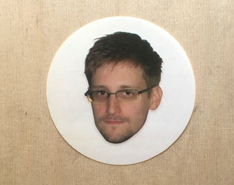 Edward Snowden vinyl sticker clear NSA CIA USA Russia privacy internet Army Navy Airforce Marines leak information