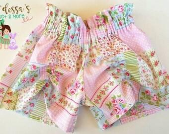 Floral Shorts-Vintage Floral Shorts-Boutique Girls Floral Shorts- Vintage Boutique Floral Baby Girl Shorts- Easter Short