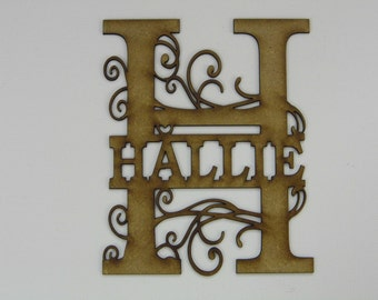 Monogram for framing - 2mm approx 150mm tall by 120 mm wide.