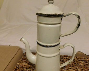 1920-1930 French Enamelware Coffee Bigin