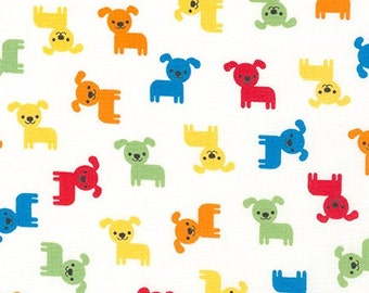 Robert Kauffman - Urban Zoologie Minis - AAK-16534-204 Primary - Ann Kelle - Puppies - Dogs - White - Multi - Novelty - Animals