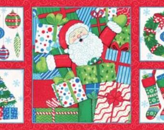 Moda - Ho! Ho! Ho! - 19700 11 - Deb Strain - Holiday - Santa  - Panel - Christmas - Gifts - Stockings - Ornaments - Tree - One More Yard