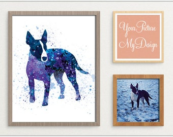 Custom Water Color Print - Your photo, Our design, Personalized artwork, Digital Print, Water Color Animal - Gift Idea