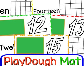 Play Dough Mats 11-20 Printables