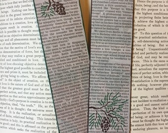 "Newspaper ""Pinecone"" Bookmarks (set of 2)"