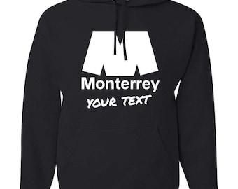 Monterrey Rayados Hooded Sweatshirt Hoodie Hoody Sudadera With Custom Text(optional)