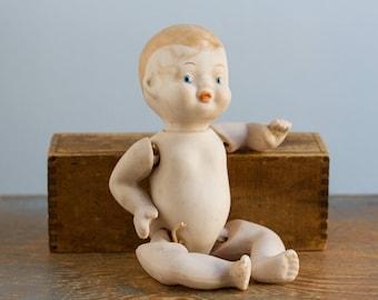 Vintage Bisque Porcelain Baby Doll