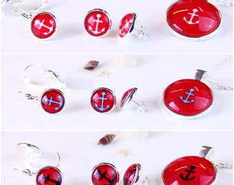 Fashion Jewelry -Anchor Ahoi Red-