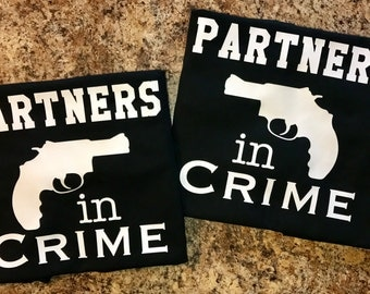 Partners in Crime Shirt Set - Both shirts Included!