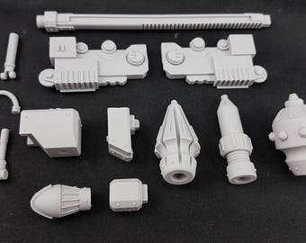 Imperial Mech Ram Arm - Force Hammer, Piston Ram, Lance and Mace