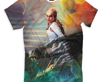 T-shirt painted Game of Thrones Daenerys Targaryen