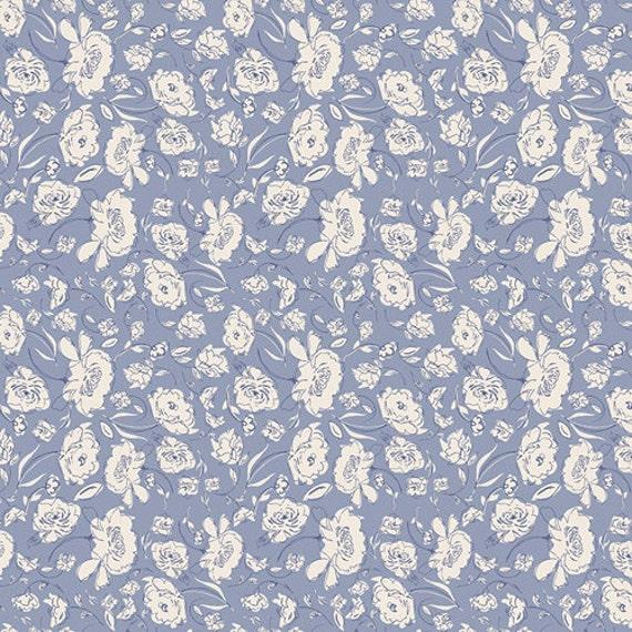 Crib Skirt >> Wonderful Things Blooming in Azure > MADE-to-ORDER violet crib skirt, blue floral crib skirt, flower bedding, baby bedding