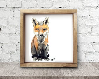 Fox print, Illustration reproduction by Cynthia Paquette
