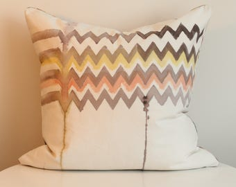 Vee 1L - Hand Painted / Hand Crafted Accent Cushion Cover