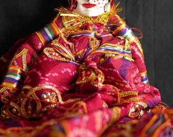 Rajasthani Puppet/Doll (lady)