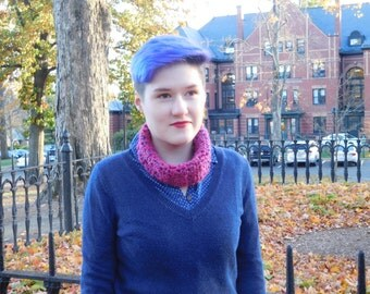 Raspberry Rows Cowl or Headband