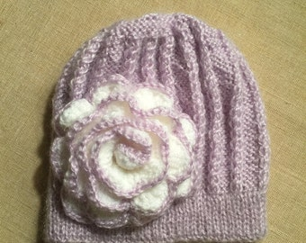 Girls knitted hat size 12 - 18 months