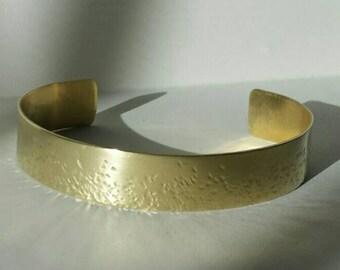 """Hammered Brass Cuff Bracelet 1/2"""""""