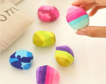 Multicolored Stone Eraser