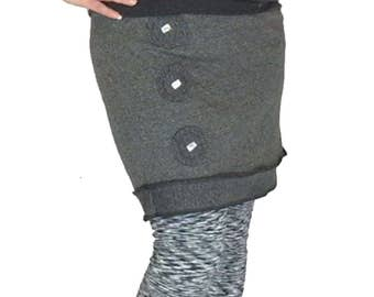 """M-L Reanimated Skirt - """"Bubble Trouble"""" Upcycled- Recycled - Reconstructed - T-Shirt Skirt"""