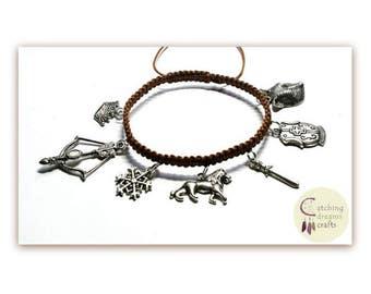 The Chronicles of Narnia Themed Macrame Charm Bracelet
