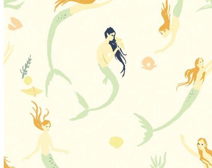 Birch Fabrics - Saltwater - Mermaids Day - Organic Cotton Woven Fabric - FINAL CLEARANCE