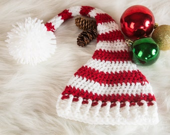 Christmas hat, Baby Santa Hat, Adult Santa hat, Child Santa Hat, Baby photo prop, Gift under 20, Striped baby hat, Gift for babies, Baby hat