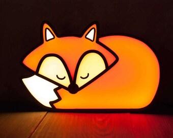 FOX Bedside lamp, Night light, Fox gift, Night lamp, Childrens gift, Nursery decor, Table lamp, Animal lamp, Kids lamp, Creative lighting