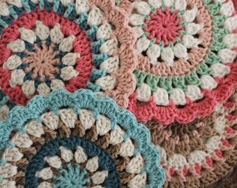 Mandala | The Coaster | Decorative cover-crochet, colorful