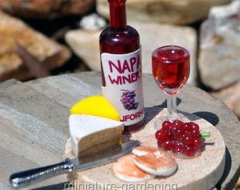 Napa Cheese Pairing for Miniature Garden, Fairy Garden