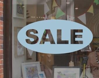 Shop Sale Window Display Sticker - Oval H669K