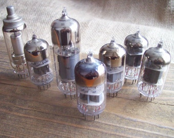 Soviet Vacuum Tube Set of 7 / Steampunk Vacuum Tube/ Steampunk Supplies/Steampunk/Cyberpunk/ Accessories