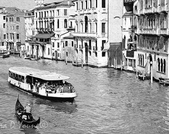 Abstract Art Print, Venice Italy, Gondola Boat, City of Venice Canal, Italian Architecture, Mediterranean Travel, Fine Art Photography