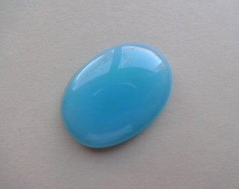 Blue Chalcedony oval cabochon 35x25 mm