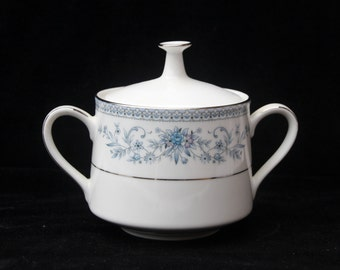 Noritake Blue Hill Lidded Jar or Sugar Bowl 3.5 inches Excellent
