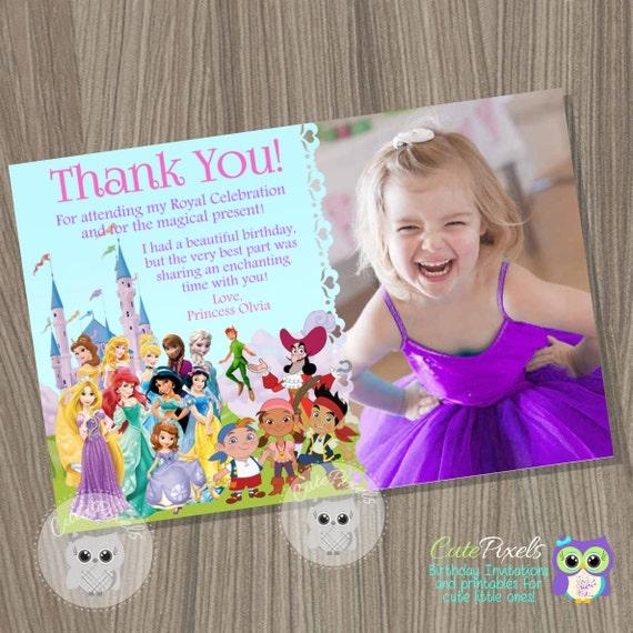 Disney Princess Thank You Card And Pirates