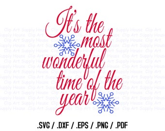 Christmas Season Clipart, Winter Christmas Wall Art, Home SVG File for Vinyl Cutters, Screen Printing, Silhouette, Die Cut Machines - CA388