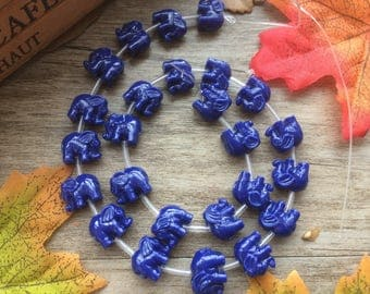 "1 Strand  Blue 15"" Plastic Elephant Spacer Charms Loose Beads DIY Supplier For Handcarfts Bracelets"
