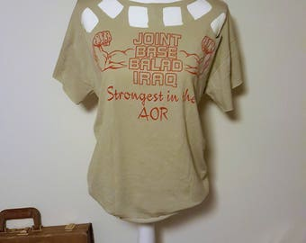 Strong Arm Cut Out Shirt